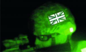 Identifizierung der britschen IR-Flagge mit Nachtsichtgläsern