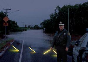 Bodenbeleuchtung für Straßenkontrollen