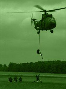 IR-Identifizierung der Truppen aus dem Hubschrauber