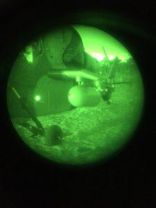 Markierung des Zugangs zu den Hubschraubern mit den runden LightShape