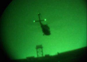 Infrarot-Markierung von Hubschraubern