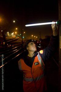 Nachtbeleuchtung für die Instandhaltung der Eisenbahninfrastruktur