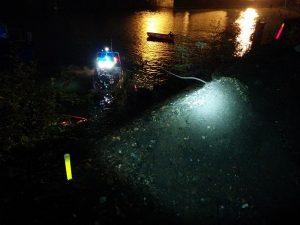 Identifizierung von Durchgängen für Rettungsaktionen der Feuerwehr bei Überschwemmungen
