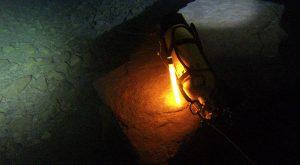 Ortung der Taucherflasche in Höhlen