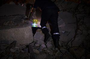Ortung von beleuchteten Zonen bei Such- und Rettungseinsätzen der Feuerwehr