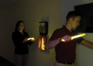 Beleuchtung zur Evakuierung von Hotelgästen