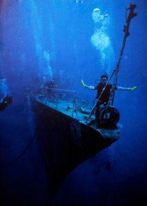 Notlicht für Taucher unter Wasser