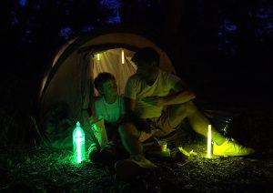 Zusatzbeleuchtung im Campingzelt