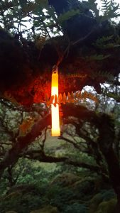Biwakbeleuchtung mit Cyalume Leuchtstab
