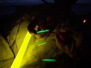 Cyalume Leuchtkörper für das Angeln