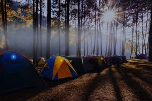 Markierung von Campingzelten