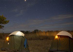 Leuchtmarkierung zur Ortung eines Zeltes auf Campingplätzen