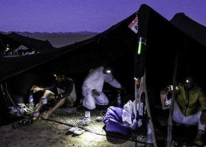"""Kennzeichnung von Zelten auf Campingplätzen beim """"Marathon des Sables"""""""