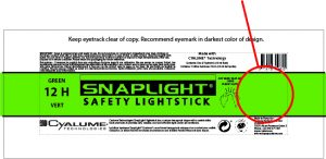 Personalisierung Verpackungen Snaplight Cyalume