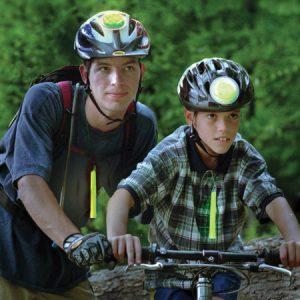 Sicherheitsbeleuchtung an Fahrrädern