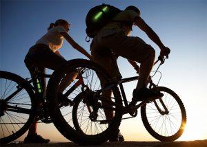 Leuchtmarkierung am Fahrrad für Verkehrssicherheit