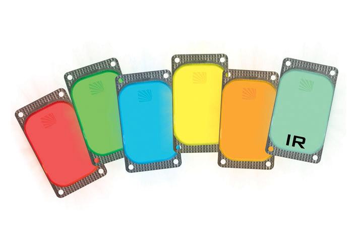 VisiPad Rechteckige Leuchtaufkleber
