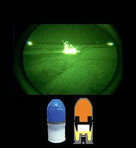 40mm-Übungspatrone chemilumineszierende Munition Niedriggeschwindigkeits dür Training
