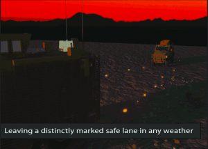 Konvois von Fahrzeugen nach IED Minenräumung