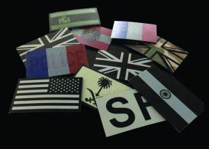 Infrarot-Flaggen und Infrarot-Abzeichen cyalume