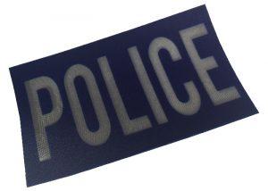 Polizei reflektierende Patch