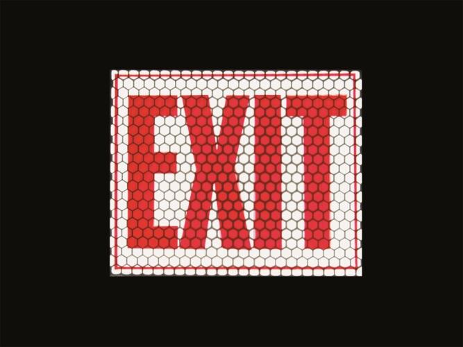 Exit reflektierende und nachleuchtende Schilder