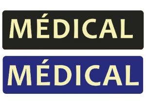 nachleuchtende medizinische Patch