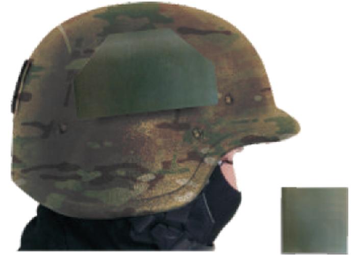 thermische Identifizierungaufnäher auf Helm
