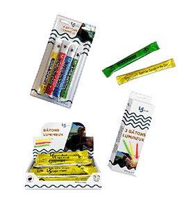Personalisierte Verpackungen für die 15-cm-Leuchtstaebe SnapLight