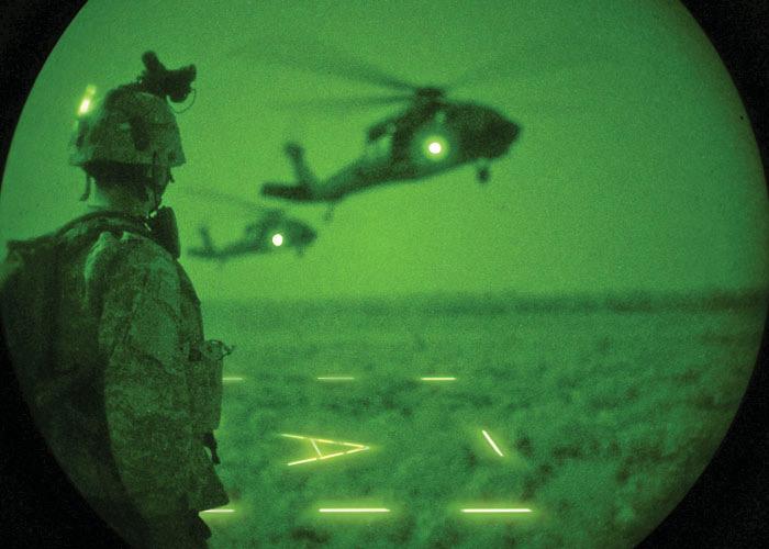 Impact infrarot Leuchtsatb zum Markierung von Hubschrauber-Landezonen