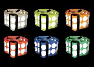 retro-reflektierende Gürtel verstellbar 6 Farben Identifizierung und Signalisierung von Personen