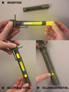 Regulierung der Lichtintensität mit drehbare Fenster der Blende für 15cm Leuchtstäbe