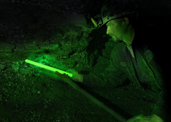 Beleuchtung für Bergau Unternehmen mit Lightstick 30cm