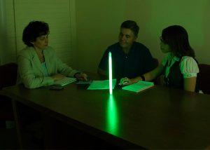 Lichtquelle mit Cyalume grünes Leuchtrohr