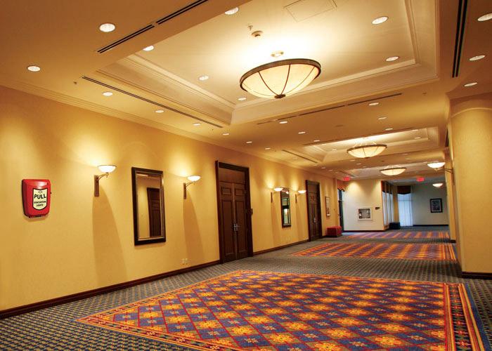 Licht für Notevakuierung im Hotels