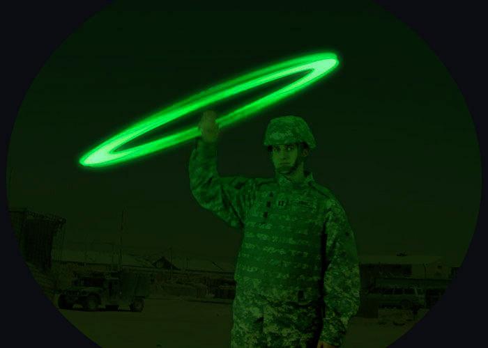 Infarot-Leuchtsignal zur Positionsangabe SOS