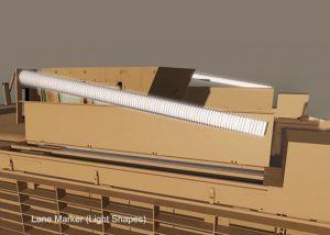 Vorratsbehälter von LightShape Leuchtmarkern Vorrichtung für die Aktivierung der Marker