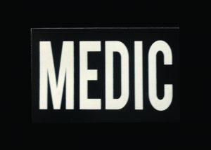 IR doppelseitige swharze Warnaufnäher Medic