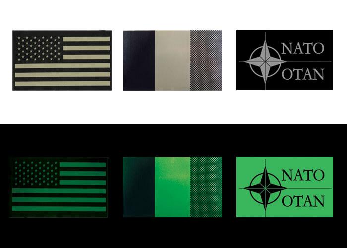 Kennzeichnungen Flaggen an Schultern zu besfestigen