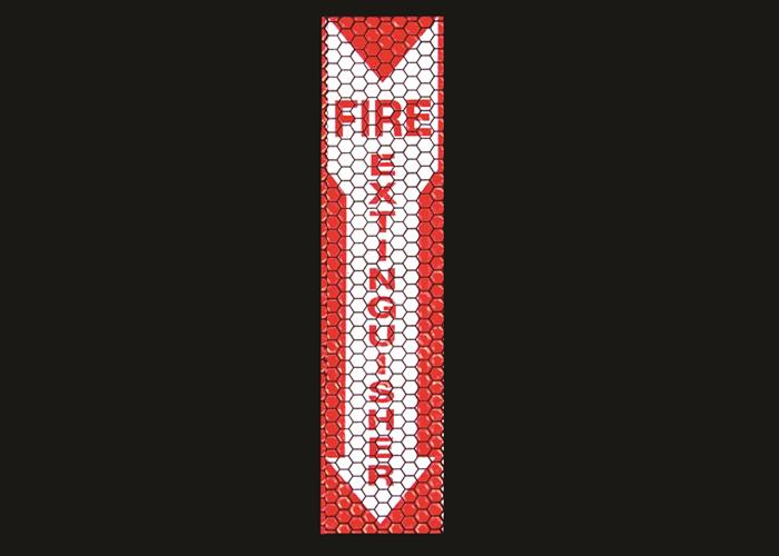 retro-reflektierende und nachleuchtende Schilder FIRE EXTINGUISHER mit selbstklebender Rückseite