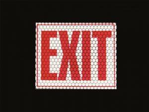 retro-reflektierende und nachleuchtende Schilder Exit Ausgang