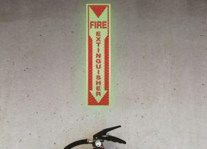 fire extinguisher retro-reflektierende und nachleuchtende Schilder