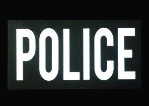 IR doppelseitige Warnzeichen Polizei