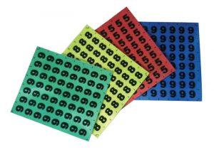 retro-reflektierenden und nachleuchtenden Identifizierungsaufkleber mit Zahlen oder Buchstaben
