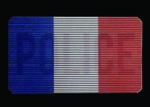 Dual-IR-Aufnäher Polizei Flaggen Frankreich