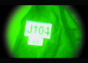 infrarote Warnaufnäher Call sign