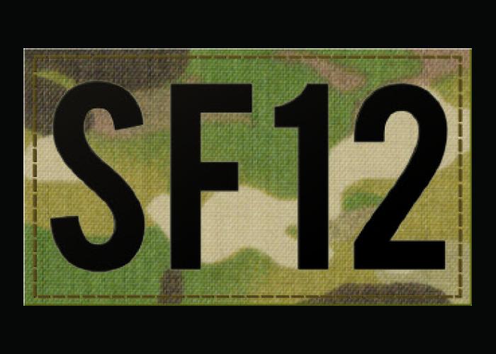 IR Camouflage Warnzeichen Call Sign Warnaufnäher