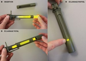 controle de la fenetre rotative de l ecran kaki directionnel pour baton lumineux