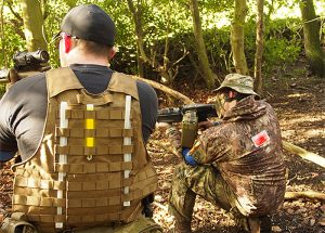 Airsoft player identification and field marking with Cyalume glow sticks