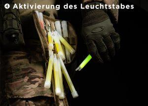 Aktivierung des Leuchtstabes mit CyPouch Tasche